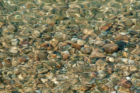 Distorted stones  viewed through clear water photo