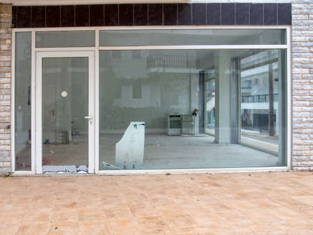 Run down shop closed for business