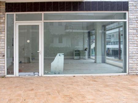 Run down winkel gesloten voor het bedrijfsleven
