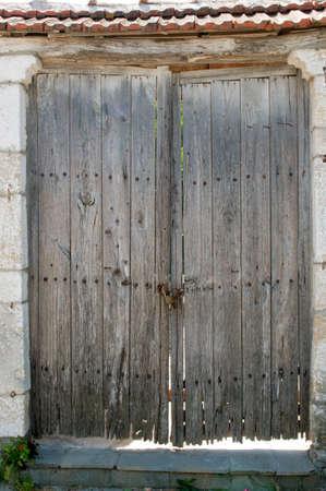 Old wooden doors photo