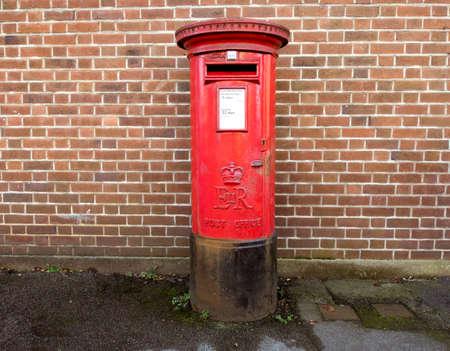 pillar box: British Post Office box