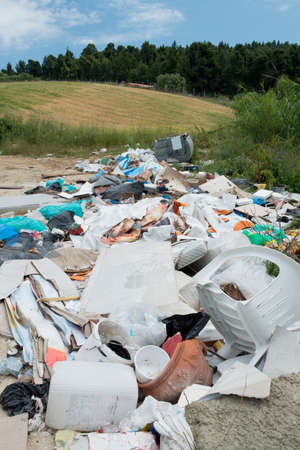 eyesore: Rubbish dumped by the side of a country road