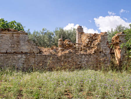 crumbling: Crumbling ruins of an old stone built house