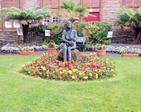 linda: CAMPBELTOWN,SCOTLAND-OCTOBER 24 2114:Memorial garden of Linda McCartney late wife of Paul McCartney on the Kintyre Peninsula who died of cancer in 1998