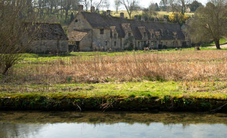 weavers: Old Weavers Cottages ,Arlington Row in Bibury,UK .