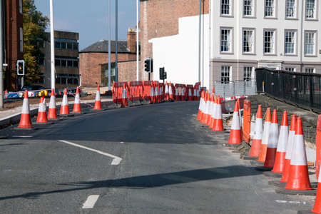 traffic   cones: Traffic Cones warn drivers of road works ahead.