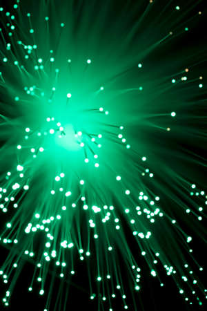 fibre optic: Bokeh from defocussed lights from a fibre optic lamp Stock Photo