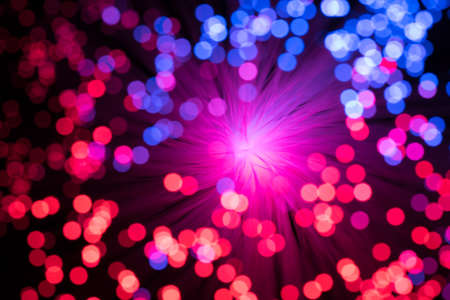 fiber optic lamp: Bokeh from defocused red and blue lights from a fiber optic lamp