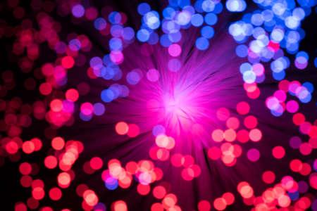 fiber optic lamp: Bokeh from defocused red and blue lights from a fiber optic lamp