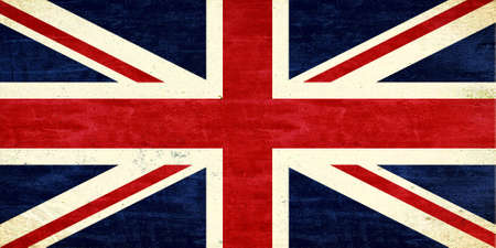 grunge union jack: Illustration of a Union Jack with a grunge look Stock Photo