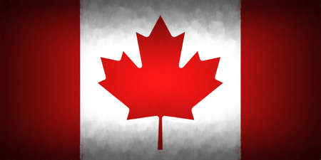 canadian flag: Illustration of the Canadian Flag with a vignette  look Stock Photo