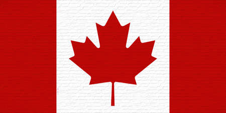canadian state flag: Illustration of the Canadian Flag with a Graffiti look Stock Photo