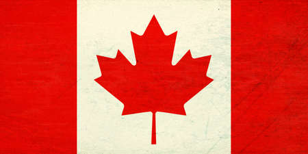 canadian flag: Illustration of the Canadian Flag with a  grunge  look Stock Photo