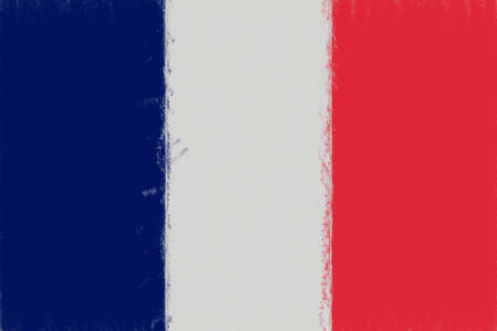 francaise: Illustration of the French Flag with a smudged look