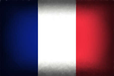 francaise: Illustration of the French Flag with a  Vignette