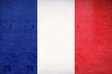 francaise: Illustration of the French Flag with a grunge look Stock Photo
