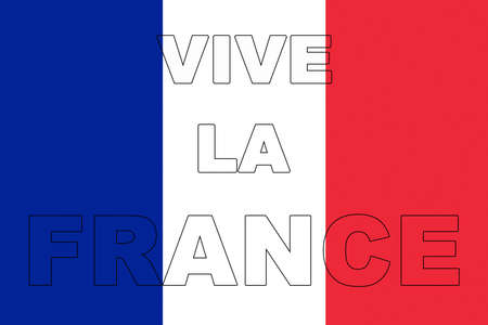 francaise: Illustration of the French flag with the words Vive La France showing on it