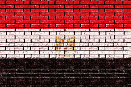 bandera de egipto: Ilustración de la bandera de Egipto hizo para que parezca que se ha pintado en un estilo de la pared de graffiti.