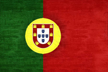 sovereignty: Illustration of the National flag of Portugal with a grunge look Stock Photo