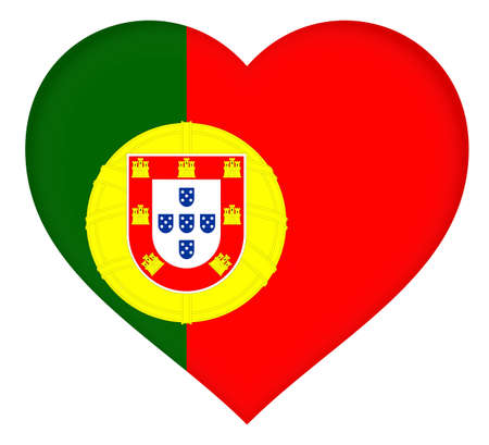 lag: Illustration of the National lag of Portugal shaped like a heart.