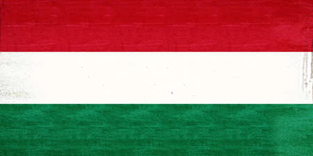 sovereignty: Illustration of the National flag of Hungary with a grunge look