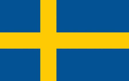 sverige: Illustration of the National Flag of Sweden