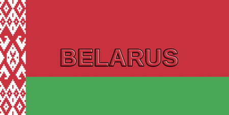 sovereignty: Illustration of the flag of Belarus with the country written on the flag