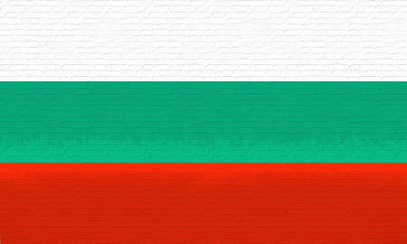 like it: Illustration of the Flag of Bulgaria looking like it has been painted onto a wall