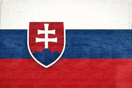 sovereignty: Illustration of the flag of Slovakia with a grunge texture