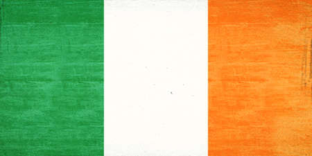 irish pride: Illustration of the flag of Ireland with a grunge texture