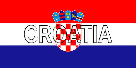 sovereignty: Illustration of the flag of Croatia with the country written on the flag