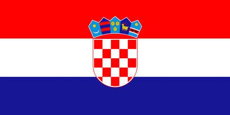 sovereignty: Illustration of the national flag of Croatia Stock Photo
