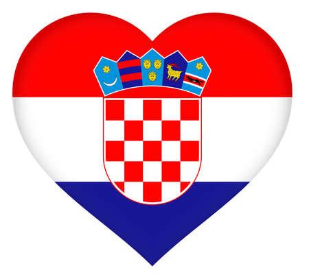 croatia: Illustration of the flag of Croatia