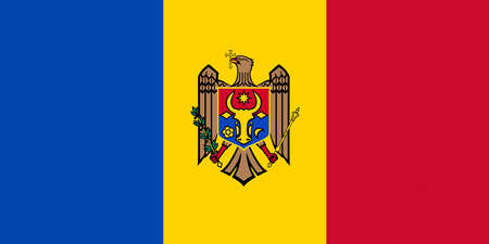 sovereignty: Illustration of the national flag of Moldova