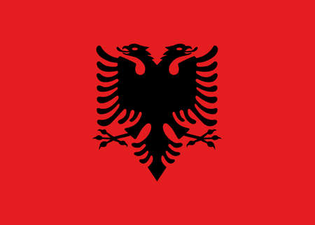 double headed: Illustration of the flag of Albania