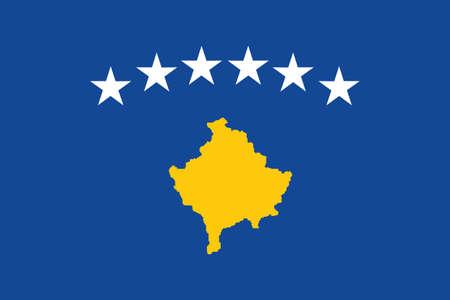 kosovo: Illustration of the national flag of Kosovo