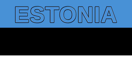 sovereignty: Illustration of the flag of Estonia with the country written on the flag