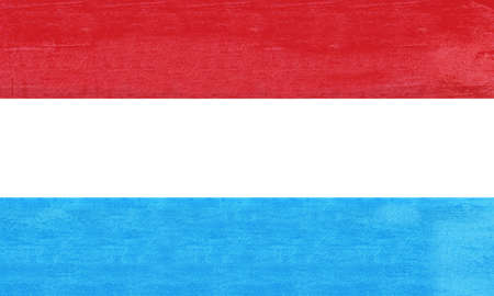 sovereignty: Illustration of the flag of Luxembourg with a grunge texture.