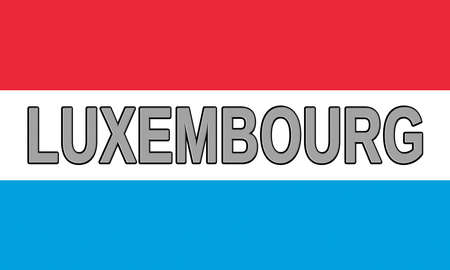 sovereignty: Illustration of the flag of Luxembourg with the country written on the flag