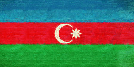 Illustration of the flag of Azerbaijan with a grunge texture Stock Photo