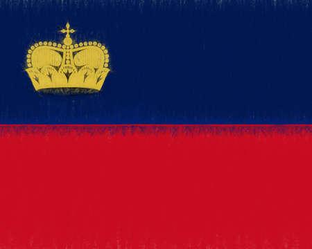 liechtenstein: Illustration of the national flag of Liechtenstein with a smudged effect