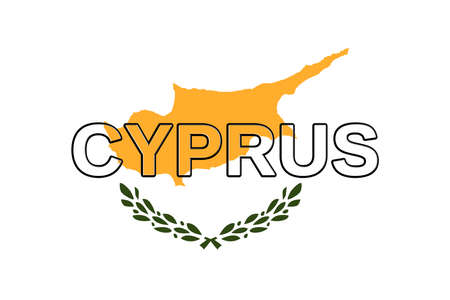 Illustration of the national flag of Cyprus with the country written on the flag