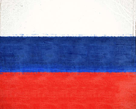 sovereignty: Illustration of the national flag of Russia with a grunge look