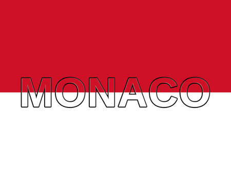 sovereignty: Illustration of the national flag of Monaco with the country written on the flag
