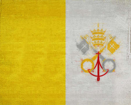 vatican city: Illustration of the national flag of the Vatican City also called Holy See