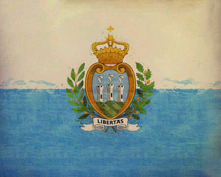 Illustration of the national flag of San Marino Grunge Stock Photo
