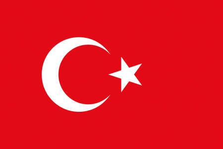 Illustration of the national flag of Turkey