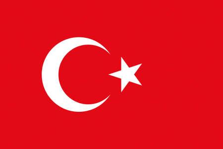 eurasian: Illustration of the national flag of Turkey