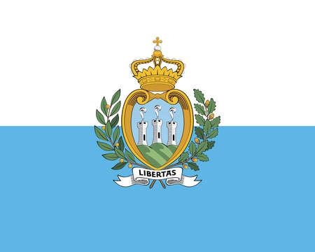 sovereignty: Illustration of the national flag of San Marino