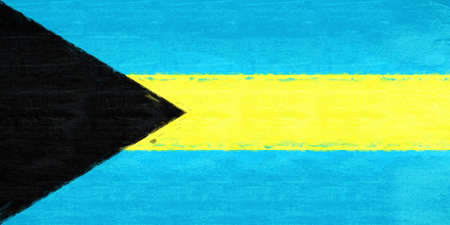 Illustration of the flag of the Bahamas with a grunge look